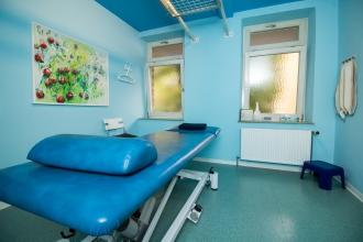 In unserem blauen Behandlungszimmer